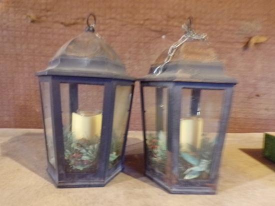 2 Candle holder hanging lanterns