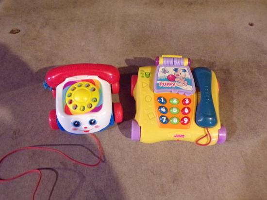 lot of 2 Fisher Price Play Phones 1 Musical