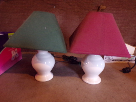 Lot of 2 lamps