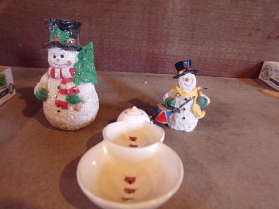 Lot of 3 snowman