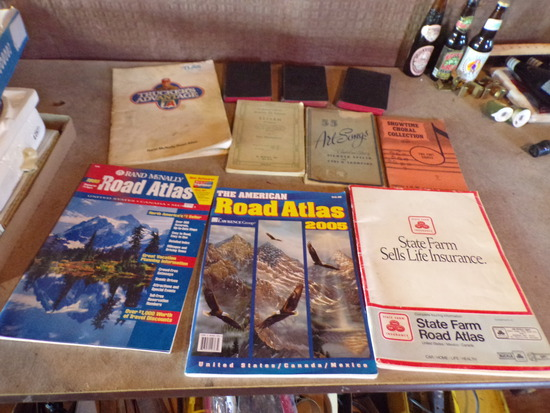 Lot of Vintage Books and Maps