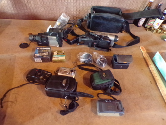 Lot  of Cameras And Camcorders