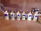 Lot of 6 Steins marked JAPAN