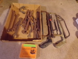Lot of Hacksaws and Wrenches