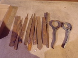 Lot of tools Files and Oil Wrenches