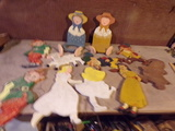 Lot of Wooden Yard Ornaments