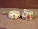 Decorative Pitcher and Bowl Hand Painted PORTUGAL