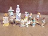 Lot of 11 Porcelain figures