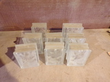 Lot of 8 Glass blocks