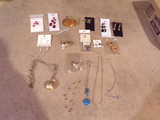 Lot of Jewelry Earrings and Neckless
