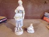 Lot of 2 Porcelain figures