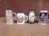 Lot of 4 Ceramic Mugs
