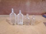 Lot of 4 Vintage Bottles