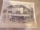 Etching of OLD PENNSYLVANIA INN signed by E.T.Scowcroft