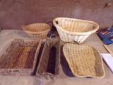 Lot of 5 Wicker Baskets