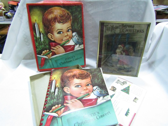 Lot of 2, Charlot Byj Steve's Christmas Concert Pop-up Book, Christmas Picture