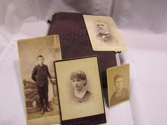Victorian Album with Over 12 Old Photos