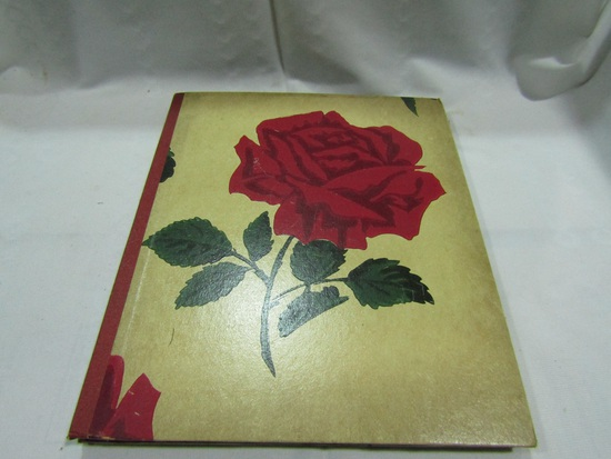 Vintage Album with Vintage Holiday Post Cards and Get Well Cards