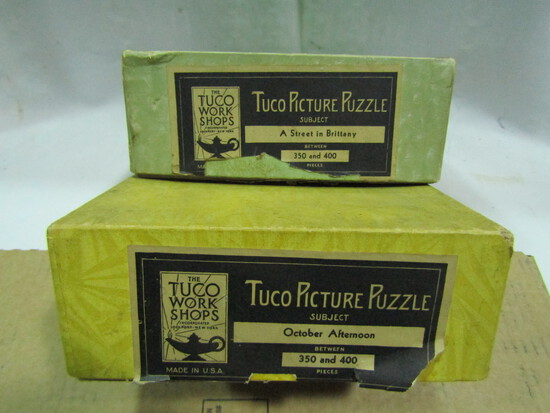 2 Vintage Tuco Picture Puzzles in Original Boxes