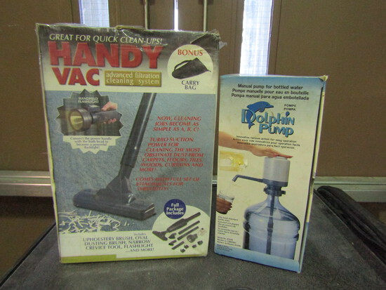Dolphin Pump and Handy Vac, in Original Boxes