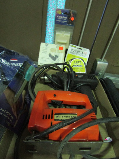 """Tools, Black and Decker 3/8"""" Drill and Sabre Saw"""