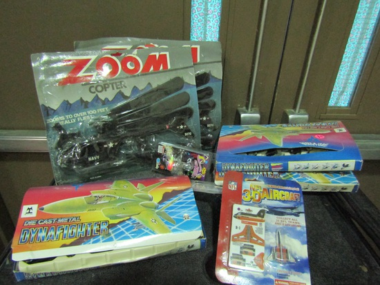 Vintage Toys, Zoom Copters and Die Cast Planes
