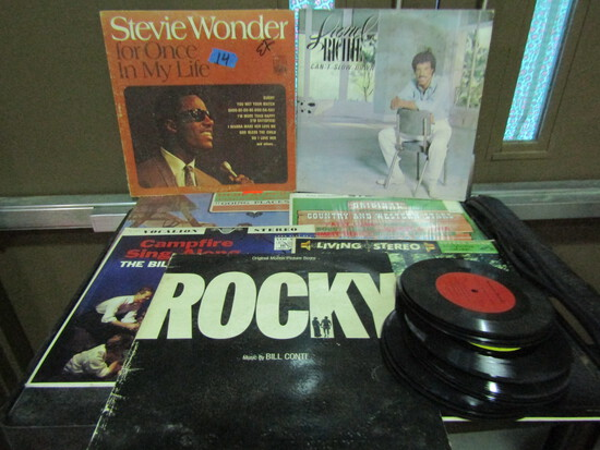 Lot of Record Albums and 45's