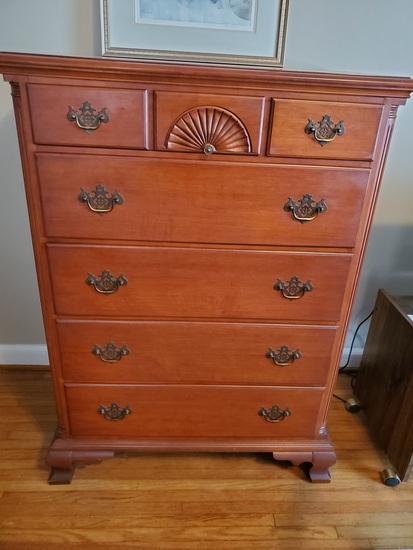 """Vintage Dresser, 5 Drawer, Dovetail, Cherry Look, 47 x 34 x 21"""""""