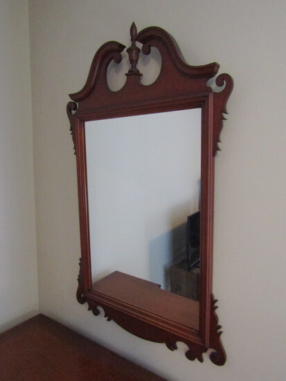 Vintage Wood Frame Mirror, Matches Desk not included