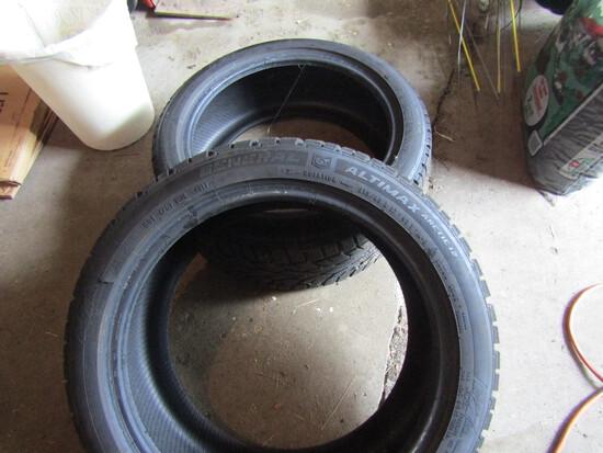 2 General Altimax, Arctic 12 Tires, 215/45R17, Look New
