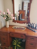Vintage Wood Desk, Dovetail, Cherry Look
