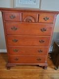 Vintage Dresser, 5 Drawer, Dovetail, Cherry Look, 47 x 34 x 21