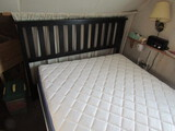 Complete Full Size Bed, Black Headboard