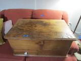 Vintage Wood Trunk, 29 x 18 x 14