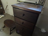 Vintage 4 Drawer Stand and Foot Stool
