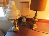 Lot of 3 Vintage Lamps