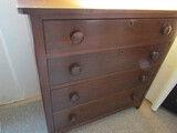 Antique/Vintage 4 Drawer Dresser, 36 x 35 x 18, Lamp Not Included