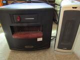 Lot of 2 Electric Heaters, Heat A lot Infrared, Lasko