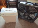Tech Solutions Paper Shredder and Lasko Box Fan, Works