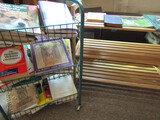 Lot of 2 Book Shelves with Books, 1 on Rollers