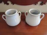 2 Vintage Flower Jars, 1 Ironside, 1 Pank Hurst, Hanley England