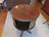 Vintage Wood Carousel Middle End Table, 4 Footed