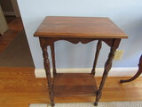 Wood End Table, 28 x 18 x 12