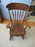 Vintage Childs Wood Rocking Chair