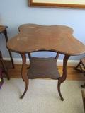 Vintage Wood Lamp Table, 29 x 23 x 23