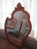 Antique/Vintage Wood Frame Mirror, Beveled