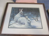 Laurie Snow Heim Framed Rabbit Print