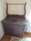 Antique Wood Wash Stand, Dovetail, Krug Bros. & Co., #530