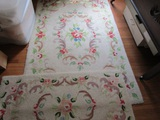 2 Vintage Matching Floor Rugs, 5.5' x 3.5' and 44