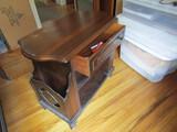 Vintage Bedside Stand, 1 Drawer, Wood